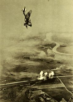 Stuka dive bombers attack Soviet positions just south of Leningrad.