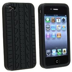 bc69b46ff562bc Amazon.com  IPHONE 4S   4   4G TYRE TREAD SILICONE SKIN CASE COVER  PROTECTOR BLACK  Cell Phones   Accessories. Mobile ...