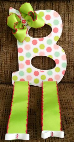 Cute Hair Bow Holder Letter B by LittleEstrellas on Etsy, $20.99
