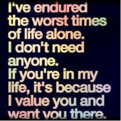 I've Endured...