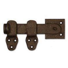 """Coastal Bronze 50-420 Bronze Door Drop Bar Latch - Lockable - 3 Piece - 5"""" L"""