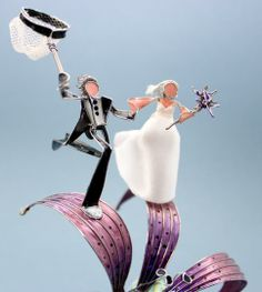 The Dragonfly & Butterfly #Custom #Weddings Cake Topper by Weddings & Wire | Hatch.co