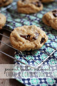 Craft, Bake, Sew, Create: Peanut Butter Oatmeal Chocolate Chunk Cookies