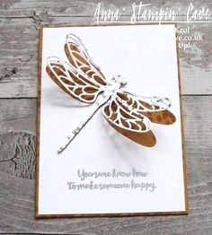 Dragonfly Dreams Clean & Simple Card for GDP069 Colour Challenge