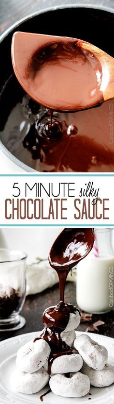 5 Minute Fool Proof Chocolate Sauce is silky, creamy, sweet and 1,000 TIMES BETTER than any store bought chocolate sauce. Perfect for brownies, ice cream, cakes, popcorn, strawberries, etc.