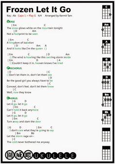 FROZEN: LET IT GO -- ukulele tab