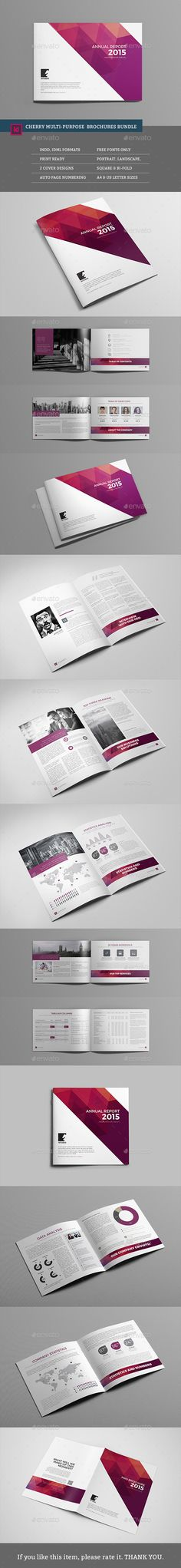 Bundle - Cherry Business Brochures Template PSD #design Download…