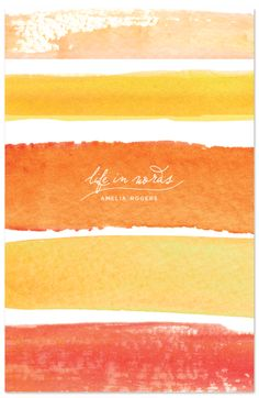 wide stripes of  watercolor washes  ... journals - Life in Words by sweet street gals ... luv these warm sunshine colors ....
