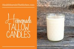 Learn how to make Homemade Tallow Candles - Great Holiday Gifts that will support your local farmer!