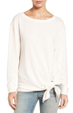 Free shipping and returns on Hinge Tie Front Fleece Top at Nordstrom.com. When you want to stay cozy and still head out to a fancy brunch, snuggle up in this sporty fleece top with dropped shoulders and a front tie.