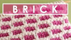 BRICK Knit Stitch Pattern | Easy Stranded Colorwork