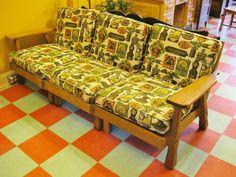 Redeux Vintage Furniture: Lone Star Porch Furniture, Furniture Projects, Vintage Furniture, Painted Sofa, Painted Furniture, Refinished Furniture, Sometimes I Wonder, Furniture Restoration, Couch