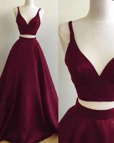 Here is Winter Formal Dresses Ideas for you. Winter Formal Dresses two pieces prom dress ball dresswinter formal Burgundy Formal Dress, Winter Formal Dresses, Formal Evening Dresses, Evening Gowns, Dress Winter, Winter Ball Dresses, Dress Formal, School Formal Dresses, Homecoming Dresses Long