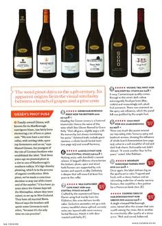 Cuisine Top 10 New Zealand Pinot Noir's feat. Amisfield Pinot Noir 2009.