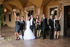 The bridal party ready for the ceremony | Lasting Images Photography | villasiena.cc