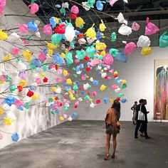 Larger Than Life Plastic Bag Instillation: Combining nature and synthetic material in this portion of the exhibit at Art Basel Artistic Installation, Fashion Installation, Plastic Art, Plastic Spoons, Recycled Art, Recycled Clothing, Recycled Fashion, Trash Art, Collage Illustration