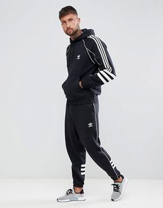 Authentic Originals Tracksuit adidas at in Black 1FRc1HWZ