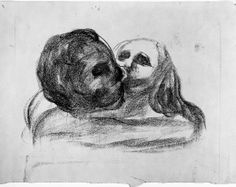 Edvard Munch - Kiss, 1913, Lithograph, Lithographic crayon on paper
