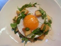 confit duck hash, fried duck egg, salsa verde