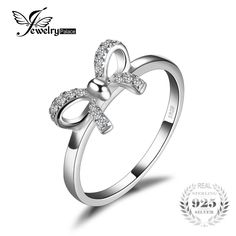 Bow Cubic Zirconia Anniversary Wedding Ring For Women Pure 925 Sterling Silver Fashion Jewelry Best Girl's Gift Argent Sterling, Sterling Silver Rings, Silver Jewelry, Fine Jewelry, Women Jewelry, Fashion Jewelry, Sterling Jewelry, Great Gifts For Wife, Love Gifts