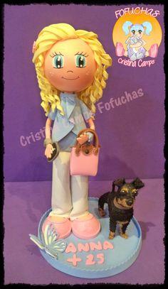 Cristina Camps Fofuchas: Fofucha con perro 4