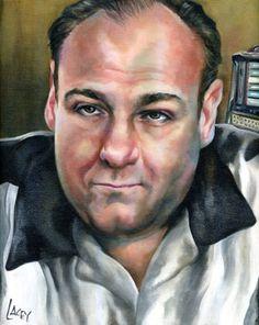 actor James Gandolfini portrait