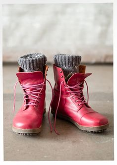 Lace-up leather boots – Accessories – GUDRUN SJÖDÉN – Webshop, mail order and…