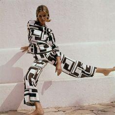 Velvet Jane 1960s Emilio Pucci Pyjama Suit photographed by Henry Clarke 1965