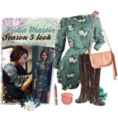 Lydia Martin 5x05 A Novel Approach by saniday on Polyvore featuring mode, Free People, Nanette Lepore, tarte, Deborah Lippmann, e by design and Olivia Riegel