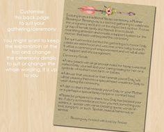 Mother Blessing Blessingway Invitation Rustic Blessingway