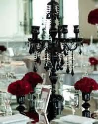 black candelabra wedding centerpieces - Google Search