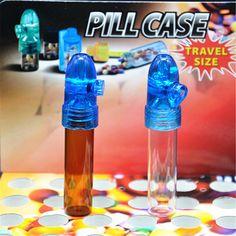 5pcs/Lot Small Size 53mm /67mm/82mmGlass Snuff  Dispenser Bullet  Rocket Snorter Snuff  Snorter Sniff Color Random #Affiliate