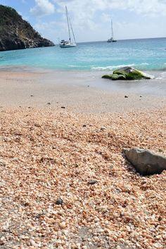 shell beach. st. barths.