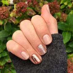 LOVE this gorgeous neutral fall manicure! Done with Jamberry TruShine gel enamel in Latte and Party Dress, and Fall Fancy nail wrap. Fall Manicure, Manicure E Pedicure, Shellac Nails Fall, Matte Nails, Acrylic Nails, Fancy Nails, Trendy Nails, Hair And Nails, My Nails