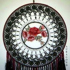 This piece has sold already but stay tuned for a whole new collection of flower catchers coming soon   Find more dream catchers available here ~ www.aurvgon.com