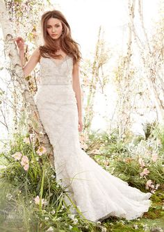 jim hjelm bridal spring 2014 sleeveless trumpet gown crystal bodice style jh8414