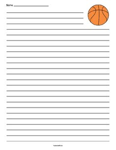 Basketball Lined Paper