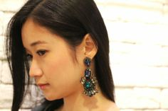 This week's staff pick are these incredibly light weight and extravagant earrings to keep you glistening through any ball or ballet. Comes in a soft black leather backing and the posts are sterling silver. Last Pair! Thanks @tammynators for modeling for us! HK$ 1,300. Divine!  www.the9thmuse.com  #suzannadai #the9thmuse #t9m #hongkong #sofiadropearrings #gemstones #perfectpair #blogger #sterlingsilver #onlineshop #shopping #jewelries #accessories #model #lurex #leather #soft