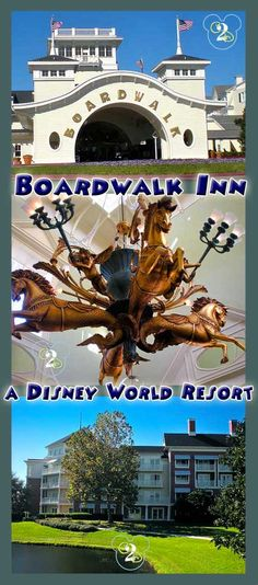 Walt Disney World Resort: Boardwalk Inn is themed after seaside districts of the Northeastern United States in the 20th century. There is also an actual Boardwalk with restaurants and nightly entertainment.
