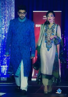 Bride and Groom designs walk the ramp at the 5th Annual Suhaag Show held in Ottawa on November 24th, 2013. Photo by: Smiles Photography #southasianfashion