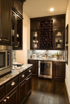 Huntington Homes   Phillips Creek Ranch   Bar Area   Frisco, TX   Plan 6171D  Wine rack