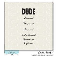 Dude - Verve Stamps Inspiration Gallery