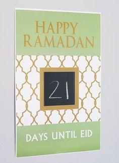 Ramadan Countdown Poster by Modern Eid