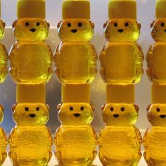 Wedding Favors, Bridal Shower or Baby Shower Favors - 50 Adorable Baby Bears - 2 oz. Raw Wildflower Honey Treats from Lee the Beekeeper. $95.00, via Etsy.