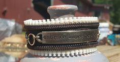 $15 Embrace Imperfection Zipper Cuff Bracelet by BerBeauty on Etsy