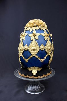 Golden Blue - Fabergé Egg Collaboration by Delicut Cakes