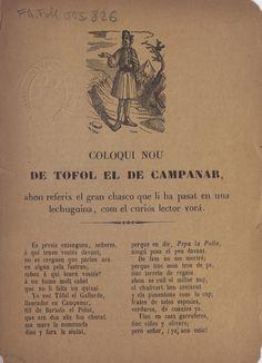 Coloqui nou de Tofol el de Campanar, ahon referix el gran chasco que li ha pasat en una lechugina, com el curiós lector vorá.