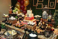 Festa de aniversário no Tema Harry Potter - Esta festa de Harry Potter é espetacular! Vejam as fotos! A festa do bruxinho mais querido no mundo inteiro.