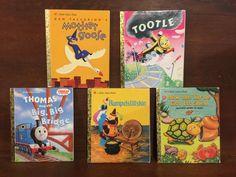 Lot of 5 Little Golden Books by ReadeemedBooks on Etsy