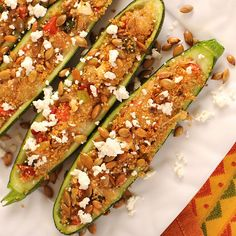 Southwest Quinoa Stuffed Zucchini Recipe – or Healthy Zucchinis Rellenos